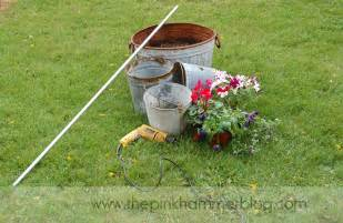 How To Drill A Well In Your Own Backyard How To Upcycle Old Metal Buckets The Pink Hammer Blog