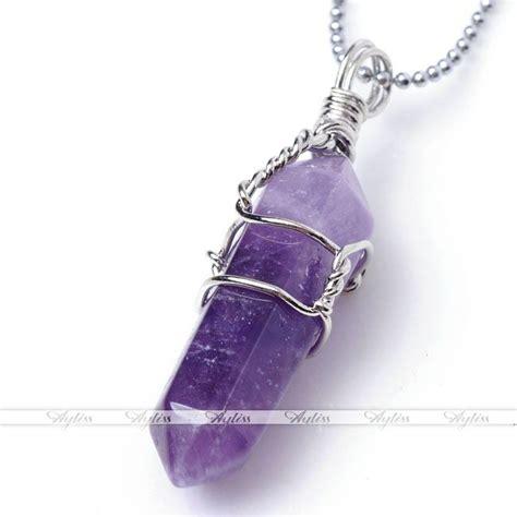 quartz healing point chakra gem bead pendant