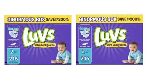 Diapers Pers luvs deals 8 162 per southern savers