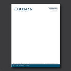 Business Letterhead Letterhead Design For Coleman Estate Agents By Dotnot