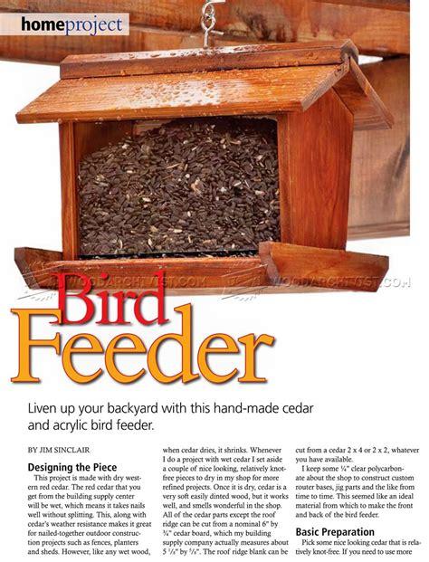 bird feeder woodworking plans bird feeder plans woodarchivist