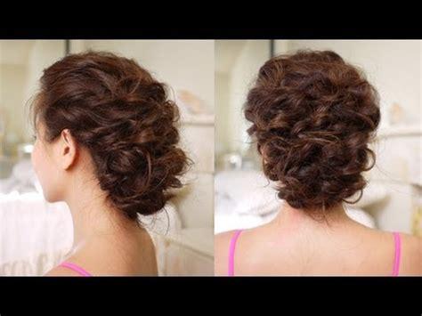 easy messy updo hair tutorial youtube