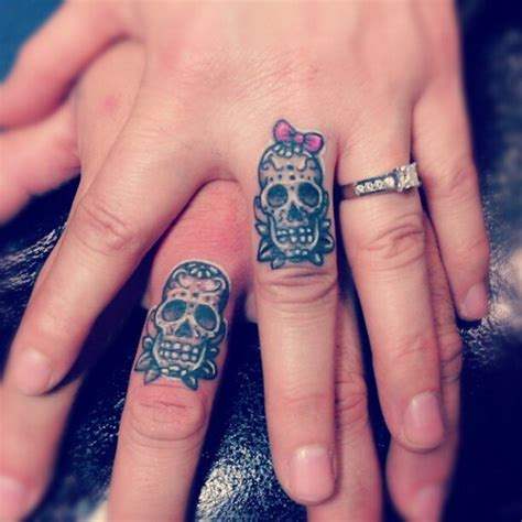 sugar skull finger tattoo sugar skull finger designs ideas and meaning