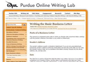 perdue owl cover letter purdue writing lab business resources