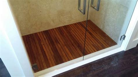Ikea Teak Floor Mat by Teak Shower Floor Tiles Tile Design Ideas