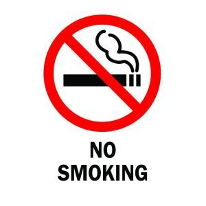 no smoking sign texas brady 14 in x 10 in plastic no smoking safety sign 25120