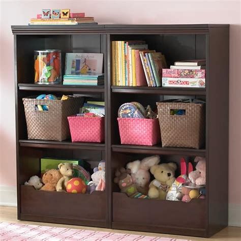 The land of nod kids bookcases kids espresso flat top with