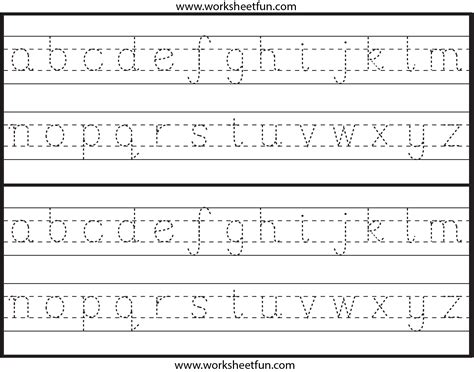 lowercase letter tracing 1 worksheet free printable