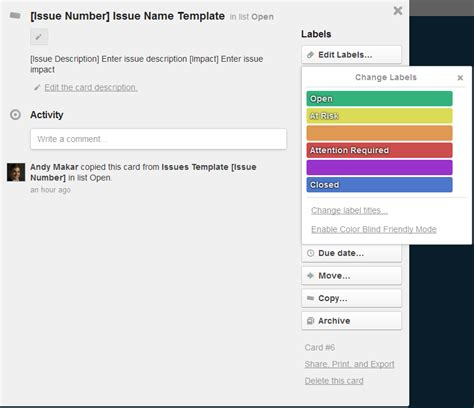 trello template card create a project issue log in trello techrepublic
