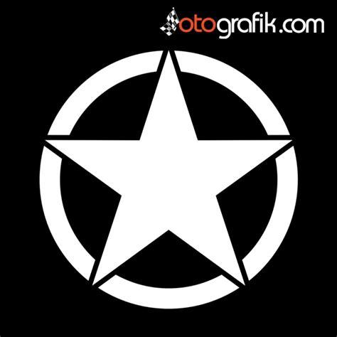 army star yildiz arma oto sticker otografik