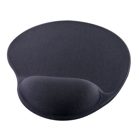 Mouse Pad Gel mhp 174 gel mouse mat black ergonomic cushioned mouse pad