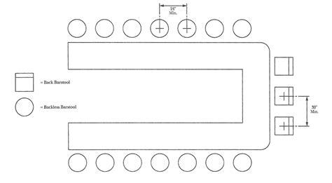 restaurant layout guidelines barstool spacing seating pinterest restaurant bar