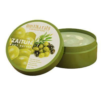 Mustika Ratu Scrub 200g olive butter packaging 200 g formula olive
