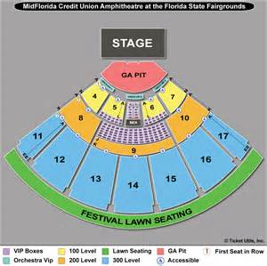 mid florida hitheater seating map 2 tix dierks bentley 7 2 midflorida credit union pit