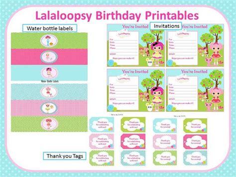 lalaloopsy birthday invitations birthday printable lalaloopsy birthday party printables by scrapnteach on