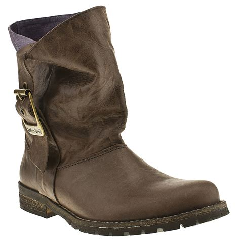 or dead grace womens brown leather pull on ankle
