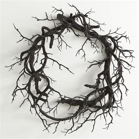 how to make a wreath from branches creepy black branch wreath the green