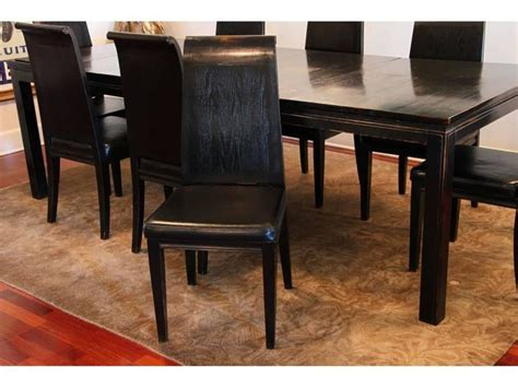 Asian Style Black Lacquered Elmwood Dining Table And Asian Style Dining Room Furniture