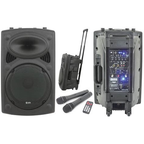 Speaker Portable Lifier Wireless Pa 15 E 15 Inch qtx qr15pa portable pa system 15 inch