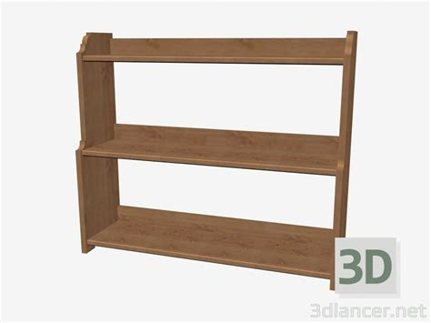 3d model bookcase low manufacturer ikea collection leksvik