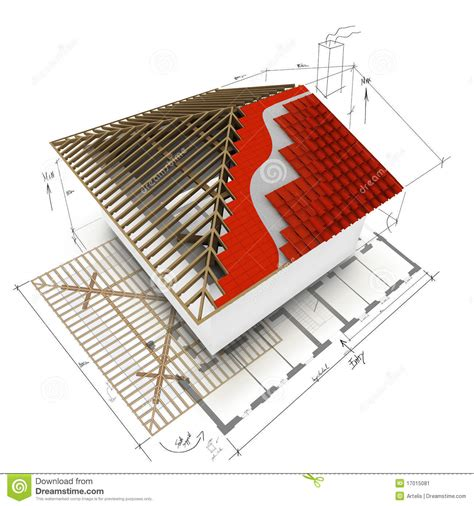 home design 3d roof house roof 3d design stock image image 17015081