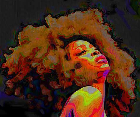 Down Duvet Cover Erykah Badu Painting By Fli Art