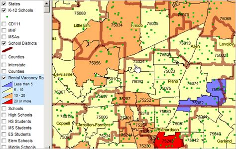 zip code map plano tx zip code demographics by school district census 2010