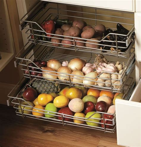 Kitchen Pantry Pull Out Baskets Wire Pull Out Baskets Kitchens Storage Solutions