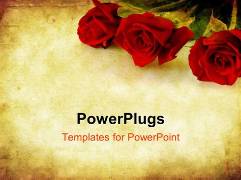 theme powerpoint rose powerpoint template valentines day background combining