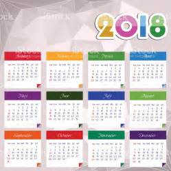 Calendar 2018 Illustration Calendar 2018 Happy New Year Vector Illustration Stock