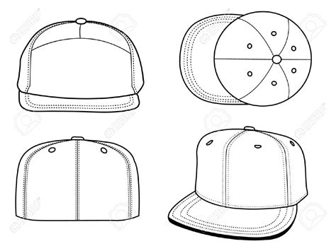 Pin By Becca Ramsey On Art Licensing Product Outline Exles Hat Template Fashion Design Cap Design Template