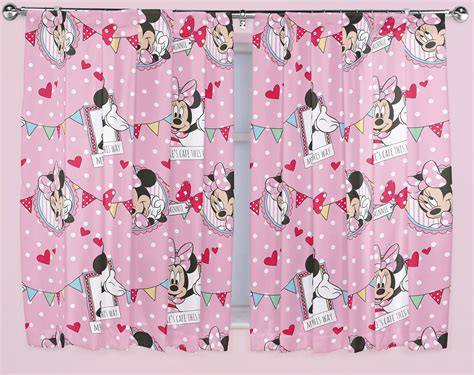 minnie mouse curtains disney minnie mouse cafe curtains 66 quot x54 quot or 66 quot x72 quot ready