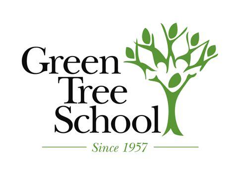 logo design green tree school hypno design