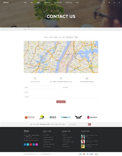 Themeforest Contact | abani multi purpose ecommerce html template by nouthemes