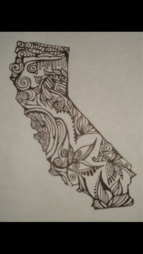 small california tattoos california state outline tattoos www pixshark