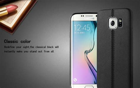 Imak Leather Back Casing Cover Sarung Kulit Iphone 6 6s imak series tpu for samsung galaxy s7 edge