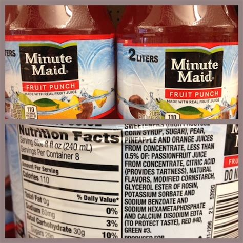 minute light fruit punch nutrition facts in pictures 29 foods with quot health claims quot that are