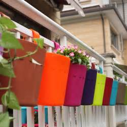 gardensity hanging deck rail outdoor garden plant pot