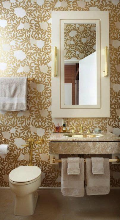 Bathroom Wallpaper Floral Lagrange Interiors Bathrooms Osborne