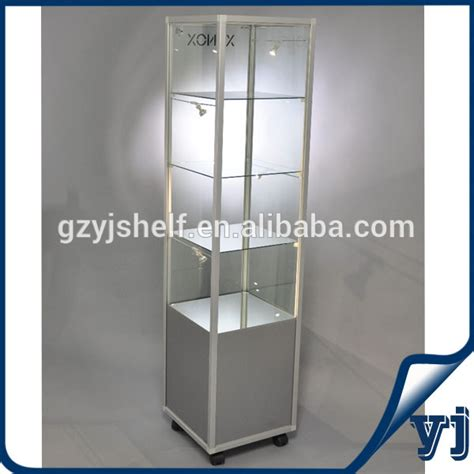 Lemari Sliding Silver Knock modern display cabinet and showcase for jewelry shop with wheels buy display cabinet and