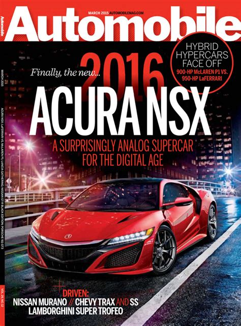 Acura Magazine 2016 Acura Nsx Makes Front Cover Of Motor Trend And
