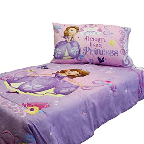 sofia the first toddler bedding sofia first princess scrolls 4 piece toddler bedding set