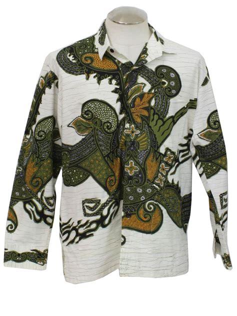 Batik Semar Print batik semar indonesia 80 s vintage shirt 80s batik semar