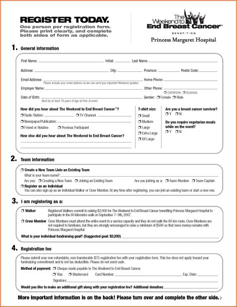 registration form template word free registration form template apa exles