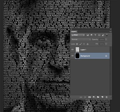 Photoshop Layout Script | how to create a text portrait effect in photoshop
