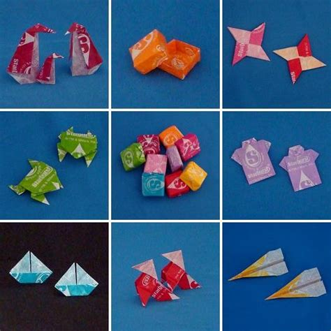 Origami With Starburst Wrappers - wrapper origami