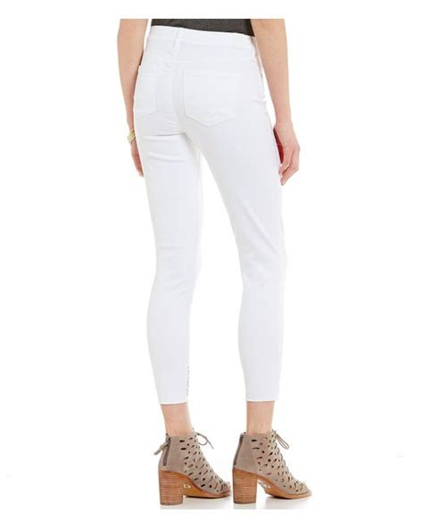 celebrity pink white skinny jeans celebrity pink embroidered hem skinny ankle jeans in white