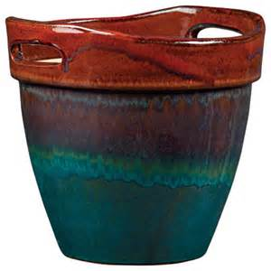 Planter Pots by New Pottery Wasabi Glazed Ceramic Planter