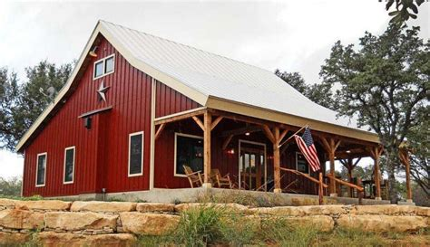 barn style house plans in harmony with our heritage country barn home kit w open porch 9 pictures metal