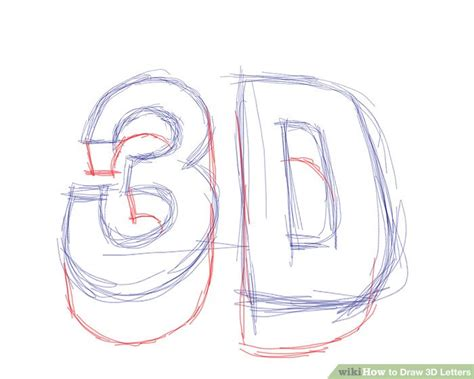 How To Draw 3d Letters Step By Step Az